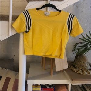 UNIF yellow crop top